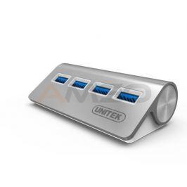 Hub USB Unitek Y-3186 4xUSB 3.0 aluminium