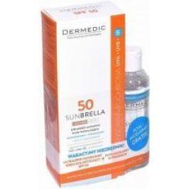 DERMEDIC Sunbrella Sun BB SPF50 ultralekki ochronny krem koloryzujący 40g + Płyn micelarny 100ml Gratis!