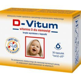 D-VITUM witamina D dla niemowląt x 36 kapsułek twist-off