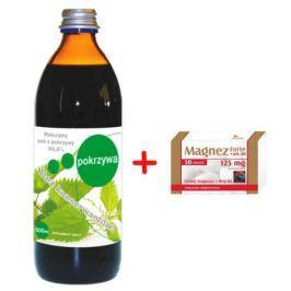 POKRZYWA sok bez konserwantów z witaminą C 500ml + Magnez Forte + wit.B6 x 50 tabletek Gratis!