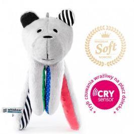 Whisbear Premium Soft - szumiący miś z funkcją CRYsensor : łapka Minky - arbuzowa