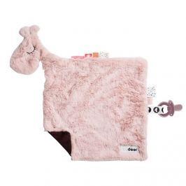 Przytulanka mini kocyk - różowa żyrafa Done by Deer