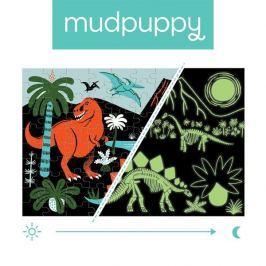 Puzzle świecące w ciemności Mudpuppy - dinozaury (100 elem.)