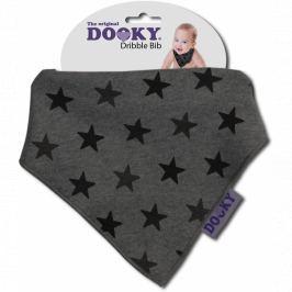Apaszka-śliniak Dooky Dribble Bib - Grey Stars