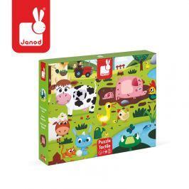 Puzzle sensoryczne 20 elementów Janod - Farma