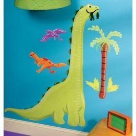 Naklejki naścienne Wallies - miarka dinozaur
