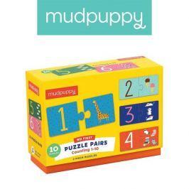Połącz w pary Mudpuppy - nauka liczenia do 10