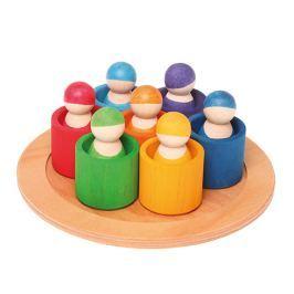 7 drewnianych przyjaciół Grimm's - kolory tęczowe