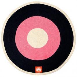 Okrągły dywan - czerwony