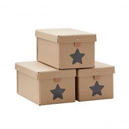 Pudełka  3 szt. Kids Concept - beżowe