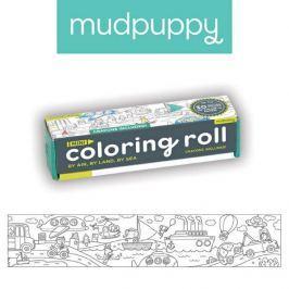 Mała kolorowanka na rolce + 4 kredki Mudpuppy - środki transportu