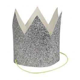 Mini korony Meri Meri (8szt.) - srebrne
