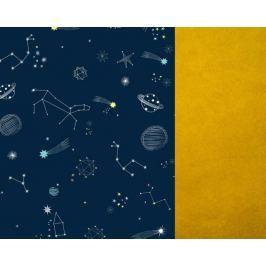 Śpiwór do wózka Samiboo Classic - regulowana długość i zapinany kaptur - galaktyka+gold