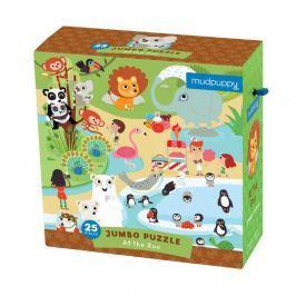 Puzzle Jumbo Mudpuppy - w zoo (25 dużych elem.)