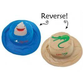 Dwustronny kapelusz FlapJack - M - rekin / aligator
