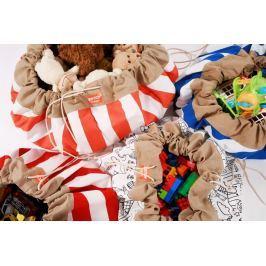 Estoy Boox  worek na zabawki - czerwone pasy