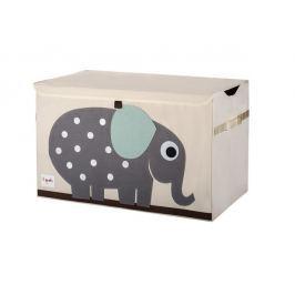 Duże pudło zamykane - słonik