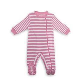 Pajacyk dla dziecka - różowe paseczki (0-3 m)