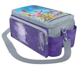 Torba podróżnika - fioletowa z szarym