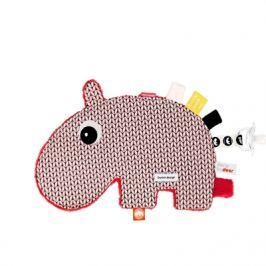 Przytulanka dwustronna z metkami Done By Deer - hipopotam