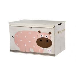Duże pudło zamykane - hipopotam