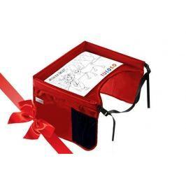 Bezpieczny stolik podróżnika + świąteczna kolorowanka - czerwony