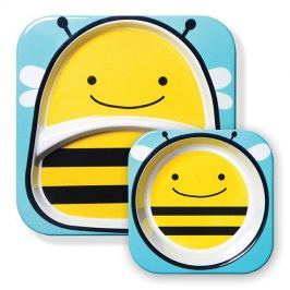 Zestaw naczyń Skip Hop ZOO - talerz i miseczka - pszczółka