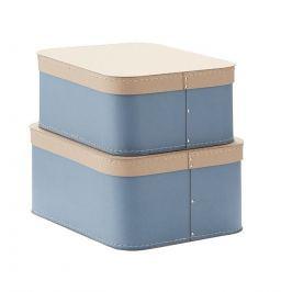 Pudełka Protokątne (2 szt) Kids Concept - niebieskie