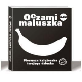 Czarno-białe książeczki dla niemowląt - Oczami Maluszka  banan
