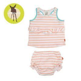 Kostium dwuczęściowy z pieluszką Splash&Fun (UV 50+) - Sailor Peach (18mc)