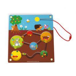 Labirynt magnetyczny ogród - zabawka zręcznościowa