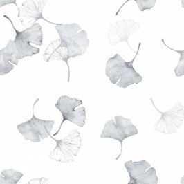 Bambusowa chustka-opaska z gumką Samiboo - Miłorzęby szare