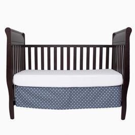 Falbana dekoracyjna do łóżeczka - gwiazdki - szaro - białe