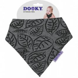 Apaszka-śliniak Dooky Dribble Bib - Grey Leaves