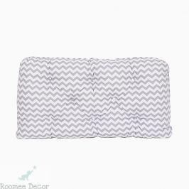Poduszka-wezgłowie duża - zygzaki - szaro-białe