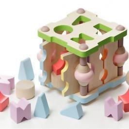 Drewniany sorter Cubika - kwadrat
