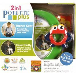 Zestaw Potette Plus do nauki nocnika: nocnik Potette+książeczka+zabawka - zielony