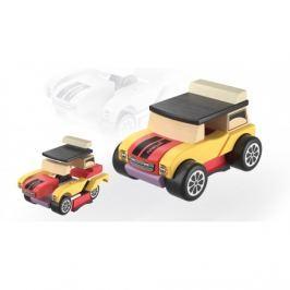 Drewniane klocki Cubika - samochód na magnesy - Mini cooper