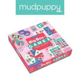 Zestaw gier Mudpuppy - księżniczka: Memo, Bingo, Domino i Koło fortuny