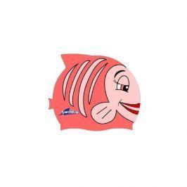 Silikonowy czepek dla dzieci SwimFin - różowy