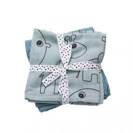Zestaw pieluszek muślinowych Done by Deer Contour (70x70) - niebieski