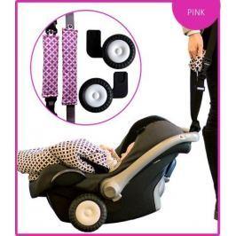 Rollersy do fotelika samochodowego - różowe