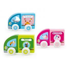 Magnetyczne samochody Scratch - lody Pozostałe zabawki