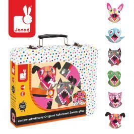 Zestaw artystyczny Janod - Origami Kolorowe Zwierzątka Pozostałe zabawki edukacyjne