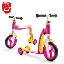 Highwaybaby PLUS hulajnoga trójkołowa  i rowerek biegowy 2w1 dla dzieci 1+ - różowy Rowerki i inne pojazdy dla dzieci