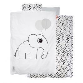 Pościel dziecięca Dots (135x100 + 60x40) - biała
