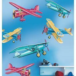Naklejki naścienne Wallies - dekoracja wielkoformatowa: samoloty Dziecięce akcesoria dekoracyjne