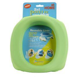 Silikonowy wkład do nocnika Potette Plus - zielony Nocniki nakładki na WC i podesty