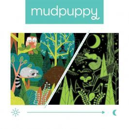 Puzzle świecące w ciemności Mudpuppy - w lesie (100 elem.)