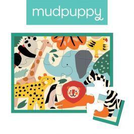 Pierwsze puzzle Mudpuppy - dzikie zwierzęta (12 elem.)
